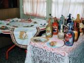 botellas, pintadas,paisaje,flores,acrilico