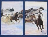 caballos en fuga
