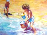 albert en la playa