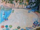 plage ensoleillée