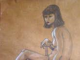 desnudo suspendido