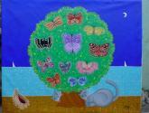 el árbol con mariposas
