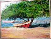 cuji en la playa de pampatar