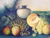 bodegon con frutas de otoño