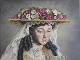 divina pastora. pintura al óleo. por encargo. la imagen que ud. desee