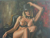 original oil colour nude painting by ellectra
