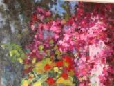 tinaja con flores