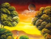 paisaje primitivo en amarillo