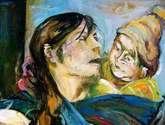 madre con hijo en una tarde quiteña