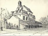 estación central  cordoba(rosario) en tinta china