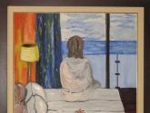 mujer mirando al mar