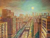 atardecer en av, libertador (1987)