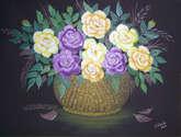 cesta con rosas