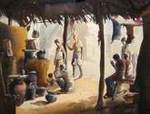 morning village tea stall