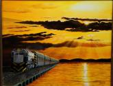 tren al amanecer