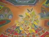interior con flores
