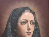 virgen del dulce nombre (málaga). pintura al óleo. por encargo. la imagen que ud. desee. también ret
