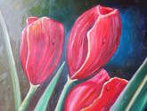 tulipanes en rojo
