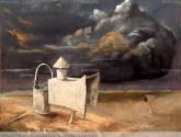 nube de amoniaco sobre el ojo ciego del desierto