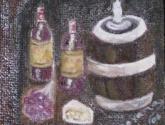 botellas y barril -  c opia