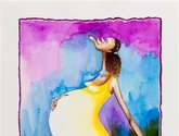 embarazada feliz