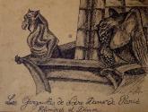 gargouille de n-d de paris : chimère et démon