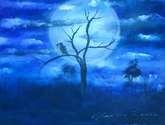 cuervos en la noche