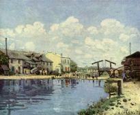 la canal saint-martin, paris. 1872