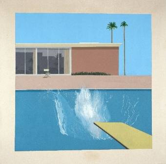 "David Hockney A Bigger Splash, 1967, Acrylic on canvas, 96 x 96"" © David Hockney, Collection: Tate Gallery, London, 2011"
