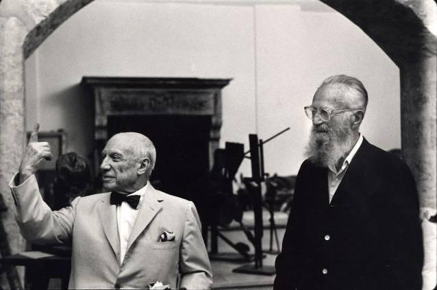 Roberto Otero (1931-2004) Pablo Picasso y Edward Steichen Notre-Dame-de-Vie (Mougins), 6 agosto 1966 Copia digital 24 x 30 cm © Roberto Otero, Museo Picasso Málaga. Vegap, Málaga 2012