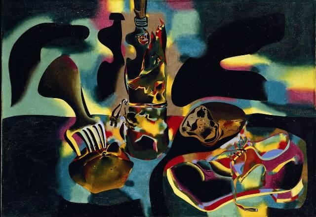 12. Natura morta del sabatot, 1937 Oli damunt tela 81,3 x 116,8 cm The Museum of Modern Art, Nova York. Donació de James Thrall Soby, 1970 © Successió Miró, Palma de Mallorcac