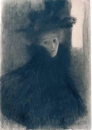 3. Gustav Klimt Bildnis einer Dame mit Cape und Hut, 1897/98 Albertina, Wien 4. Gustav Klimt