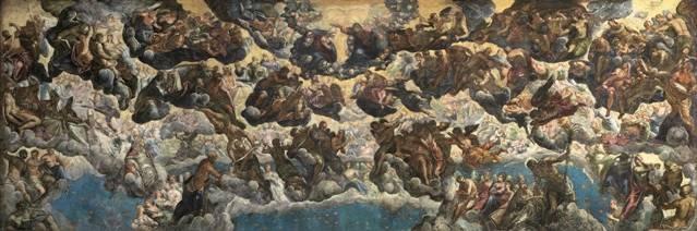 Tintoretto. El Paraíso, c. 1588. Óleo sobre lienzo. 169,5 x 494 cm. Museo Thyssen-Bornemisza, Madrid.