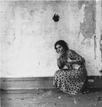 Francesca Woodman Polka Dots, Providence, Rhode Island, 1976 Gelatin silver print, 13.3 x 13.3 cm) Courtesy George and Betty Woodman  © 2012 George and Betty Woodman