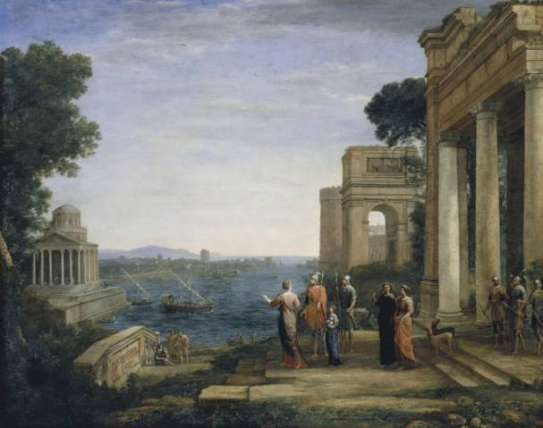 Claude Lorrain (about 1600-1682) View of Carthage with Dido and Aeneas, 1675/76 Oil on canvas, 120 x 149,2 cm Hamburger Kunsthalle © Hamburger Kunsthalle