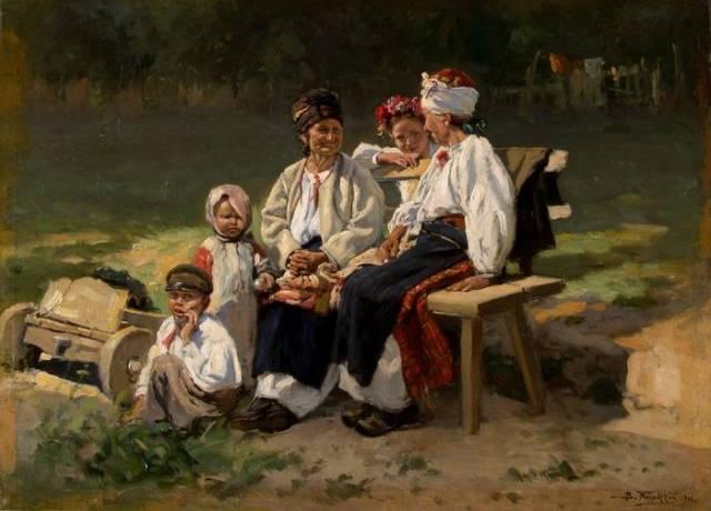 Vladimir Makovski (1846–1920) Ukraina külas. 1906 Õli, lõuend Läti Rahvuslik Kunstimuuseum
