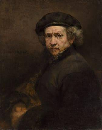 1. Self-portrait, 1659. Rembrandt van Rijn (Dutch, 1606–1669). Oil on canvas; 84.5 x 66 cm. National Gallery of Art, Washington, Andrew W. Mellon Collection 1937.1.72. Image courtesy National Gallery of Art, Washington