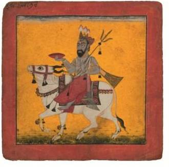 Bhairava Raga, Pahari, Nurpur, c.1690, gouache on paper,21 x 20.8cm, Claudio Moscatelli Collection. Photo © Matthew Hollow Photography
