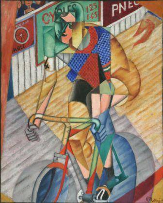 Jean Metzinger Il corridore/Racing Cyclist (Coureur cycliste), 1912 Olio su tela e sabbia/Oil on canvas with sand 100 x 81 cm Collezione privata/Private collection © Jean Metzinger, by SIAE 2012