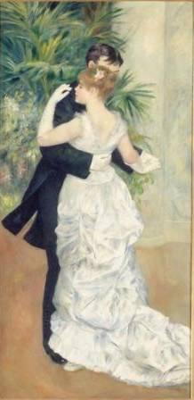 Pierre-Auguste Renoir (1841–1919) Dance in the City, 1883 Oil on canvas 70 7/8 x 35 ½ inches Musée d'Orsay, Paris (Galerie du Jeu de Paume) Photo: Réunion des Musées Nationaux / Art Resource, NY