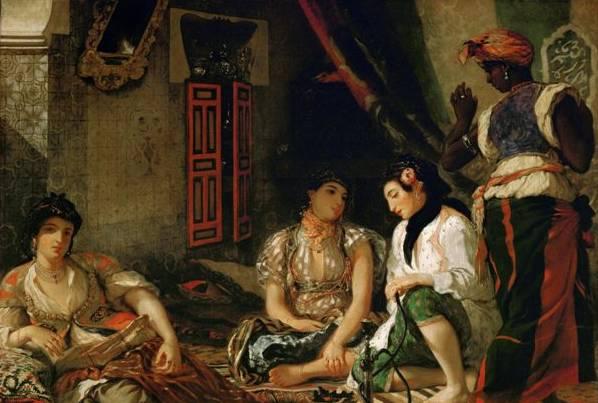 2. Eugène Delacroix. Mujeres de Alger en su aposento, 1834, óleo sobre lienzo, 180 x 229 cm, Musée du Louvre. © 2009 Musée du Louvre / Erich Lessing