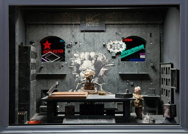 The Alchemist of Prague, decor for the film The Cabinet of Jan Švankmajer. 1984. Wood, fabric, glass, metal, 37 × 29 1⁄8 × 29 1⁄8″ (94 × 74 × 74 cm). Photograph Robert Barker, Cornell University