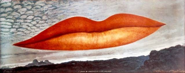1. LEE-059Man Ray (1890–1976)A l'heure de l'observatoire – les amoureux (Observatory Time – The Lovers), c. 1931, color photographof 1964, after the original oil paintingColor photograph19 5/8 x 48 3/4 in. (50 x 124 cm)The Israel Museum, Jerusalem © 2011 Man Ray Trust/Artists Rights Society (ARS), New York/ADAGP, Paris/ Photo © The Israel Museum by Avshalom Avital