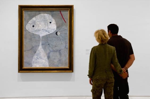 Miró hombre con pipa. Museo Nacional Centro de Arte Reina Sofía.