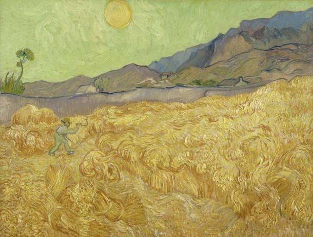 7. Vincent van Gogh Wheatfield with Reaper, 1889 Oil on canvas, 73 × 92 cm Van Gogh Museum, Amsterdam