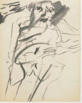 Willem de Kooning. Untitled. 1966. Charcoal on paper, 10 x 8″ (25.4 x 20.3 cm). Gift of Jan Christiaan Braun in honor of Rudi Fuchs. © 2012 The Willem de Kooning Foundation/Artists Rights Society (ARS), New York.