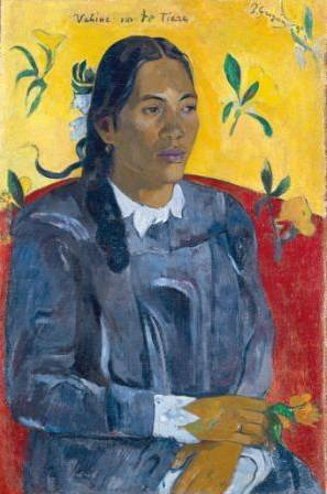 Paul Gauguin, Tahitikvinde med en blomst, 1891, Ny Carlsberg Glyptotek