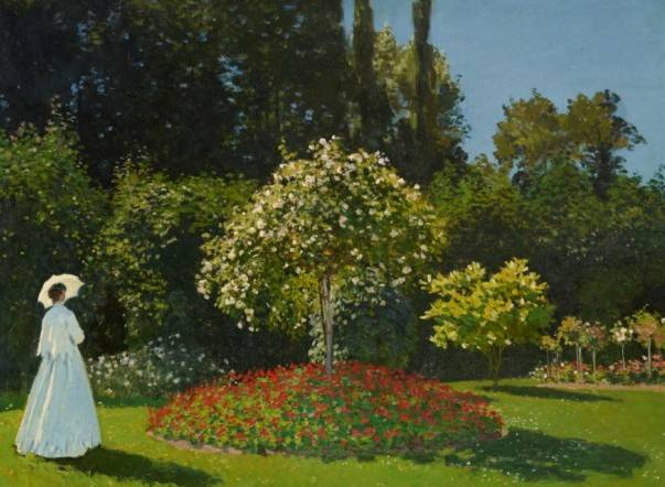 7.	Claude Monet (1840–1926), Woman in a Garden [Dame au jardin], 1867. Oil on canvas, 82.3 x 101.5 cm © State Hermitage Museum, St Petersburg