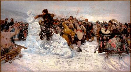 1. Caption:  Vasily Surikov, The Taking of a Snow Fortress, 1891 Oil on canvas  State Russian Museum