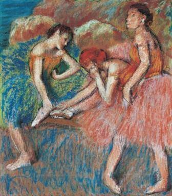 ALT: Edgar Degas, Danseuses (Danseuses au repos), vers 1898 Lausanne, Fondation de l'Hermitage, legs de Lucie Schmidheiny, 1998 © photo Giorgio Skory, Romanel-sur-Lausanne